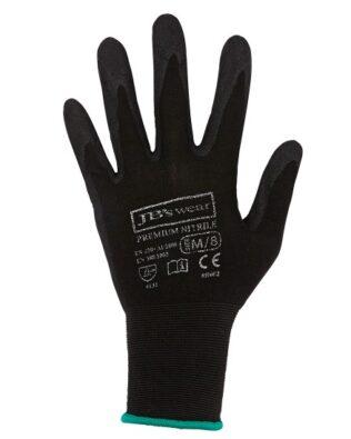 JBs Workwear Premium Black Nitrile Glove (12 Pack)