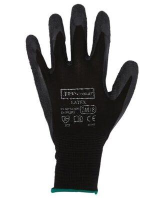 JBs Workwear Black Latex Glove (12 Pack)