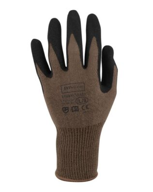 JBs Workwear Bamboo Sandy Nitrile 1/2 Dipped Glove (12 Pack)