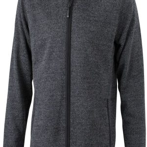 James & Nicholson Mens Knitted Fleece Hoody