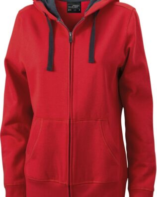 James & Nicholson Ladies Hooded Jacket
