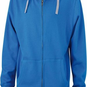 James & Nicholson Mens Lifestyle Zip-Hoody