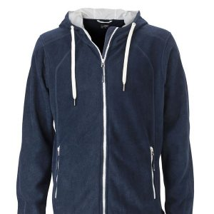 James & Nicholson Mens Fleece Hoody