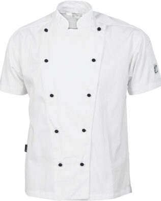 DNC Hospitality Workwear Cool-Breeze Cotton Chef Jacket Short Sleeve