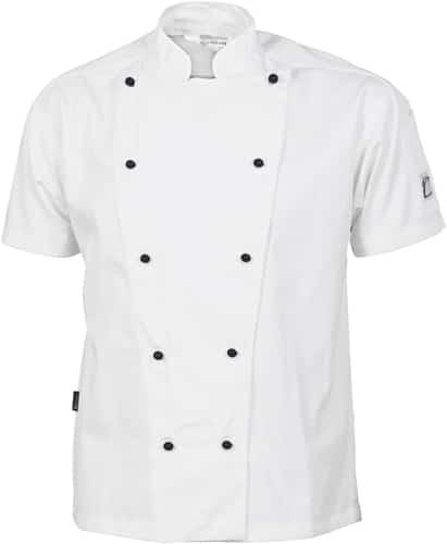 DNC Hospitality Workwear Cool-Breeze Cotton Chef Jacket – Short Sleeve