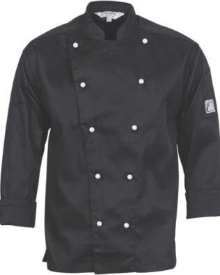 DNC Hospitality Workwear Cool-Breeze Cotton Chef Jacket Long Sleeve