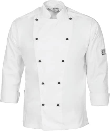 DNC Hospitality Workwear Cool-Breeze Cotton Chef Jacket – Long Sleeve