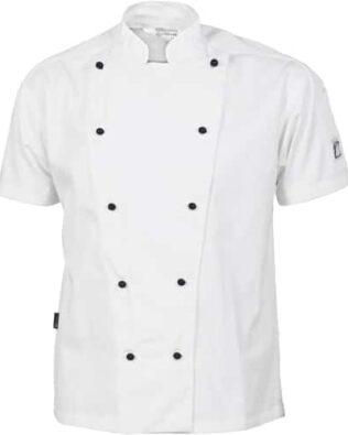 DNC Hospitality Workwear Three Way Air Flow Chef Jacket Short Sleeve