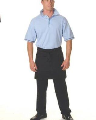 DNC Hospitality Workwear Poly Cotton Short Apron With Pocket