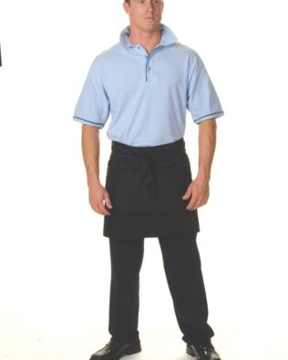 DNC Hospitality Workwear Poly Cotton Short Apron No Pocket