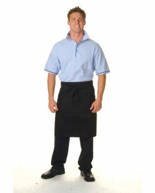 DNC Hospitality Workwear Poly Cotton Half Apron No Pocket