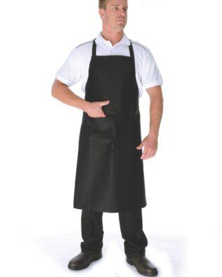 DNC Hospitality Workwear Cotton Drill Full Bib Apron With Pocket