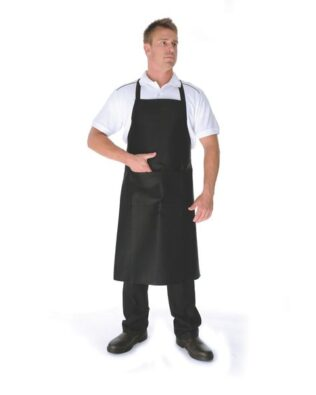 DNC Hospitality Workwear Cotton Drill Full Bib Apron No Pocket