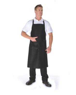 DNC Hospitality Workwear Poly Cotton Full Bib Apron No Pocket