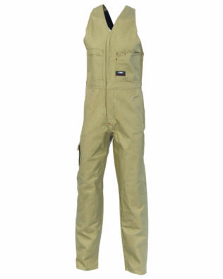 DNC Workwear Cotton Drill Action Back Overall