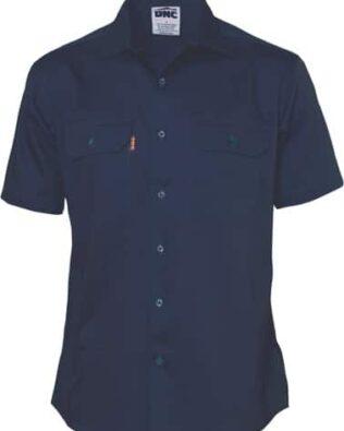 DNC Workwear Cotton Drill Work Shirt Short Sleeve