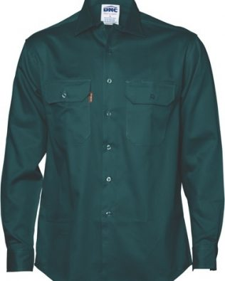 DNC Workwear Cotton Drill Work Shirt Long Sleeve