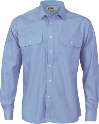 DNC Workwear Polyester Cotton Work Shirt Long Sleeve