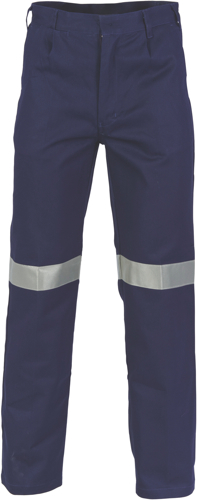 DNC Workwear Cotton Drill Pants With 3M Reflective Tape