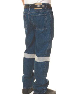 DNC Workwear Taped Denim Stretch Jeans