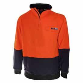 DNC Workwear Hi Vis 1/2 Zip FR & HRC2 Jumper