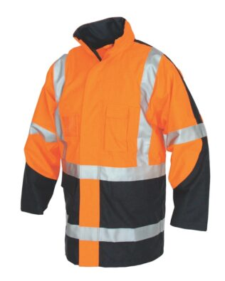DNC Workwear Hi Vis FR & HRC2 D/N Rain Jacket
