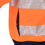 DNC Workwear Hi Vis Segmented Tape X Back 1/2 Zip Jumper