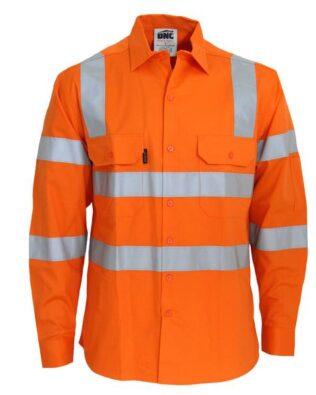 DNC Workwear Hi Vis 3 way Cool-Breeze VIC Rail Shirt