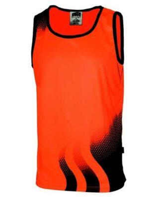 DNC Workwear WAVE Hi Vis Sublimated Singlet
