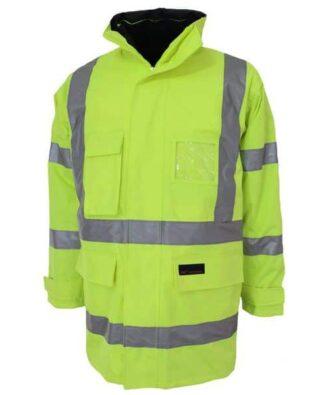 DNC Workwear Hi Vis 6 in 1 Breathable rain jacket Biomotion