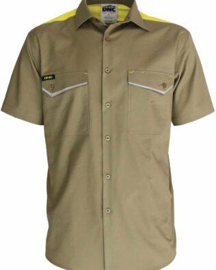 DNC Workwear RipStop Cool Cotton Tradies Shirt Short Sleeve