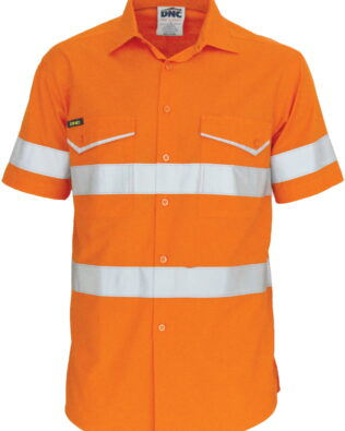 DNC Workwear RipStop Cotton Cool Shirt with CSR Reflective Tape Short Sleeve