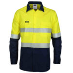 DNC Workwear Hi Vis 2 Tone Segment Taped Coolight Shirt