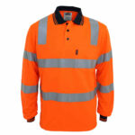 DNC Workwear Hi Vis Biomotion Tapped Polo Long Sleeve