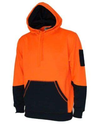 DNC Workwear Hi Vis 2 tone super fleecy hoodie