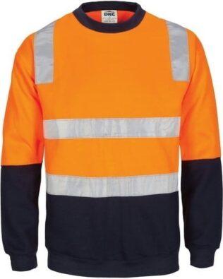 DNC Workwear Hi Vis 1/2 Zip Super Fleecy