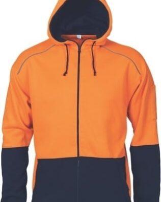 DNC Workwear Hi Vis Contrast Piping Fleecy Hoodie