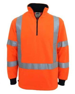 DNC Workwear Hi Vis X back & Biomotion taped Polar Fleece