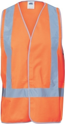 DNC Workwear Day/Night Safety Vests with H-pattern