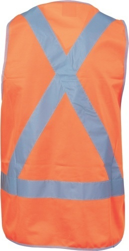 DNC Workwear Day/Night Cross Back Safety Vests