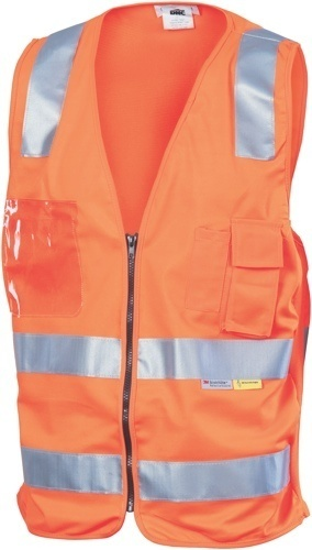 DNC Workwear Day/Night Side Panel Safety Vests
