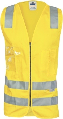 DNC Workwear Day/Night Cotton Safety Vests