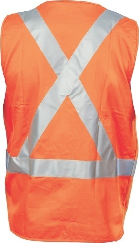 DNC Workwear Day/Night Cross Back Cotton Safety Vests with CSR Reflective Tape