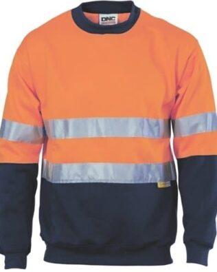 DNC Workwear Hi Vis Sublimated Stripe Polo