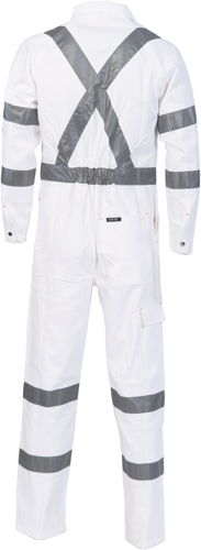 DNC Workwear RTA Night Worker Coverall with 3M 8910 Reflective Tape