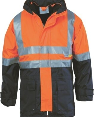 DNC Workwear 4 in 1 Hi Vis Two Tone Breathable Jacket with Vest and 3M Reflective Tape