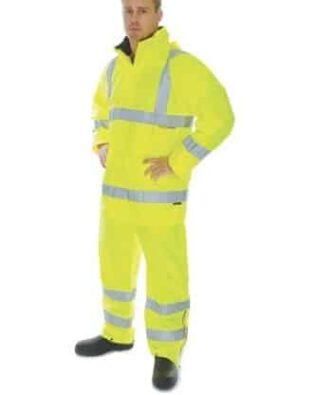 DNC Workwear Hi Vis D/N Breathable Rain Jacket with 3M Reflective Tape