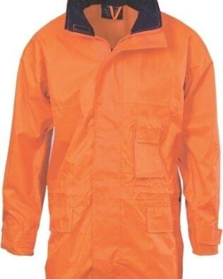 DNC Workwear Hi Vis Breathable Rain Jacket