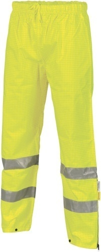 DNC Workwear Hi Vis Breathable and Anti-Static Pants with 3M Reflective Tape