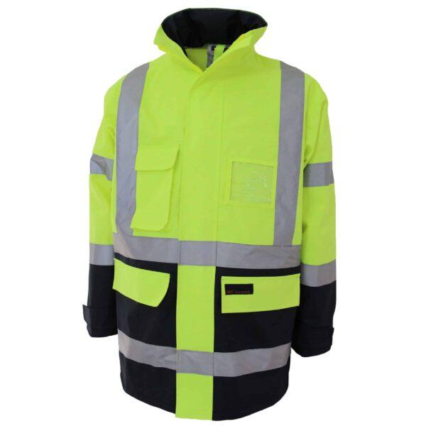 "DNC Workwear Hi Vis ""H"" pattern 2T Biomotion tape jacket"